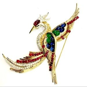 BOUCHER Bird Of Paradise Large Sought After Brooch
